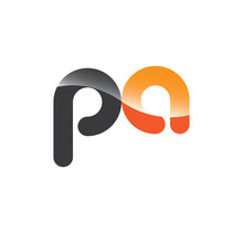Pa Initial Grey And Orange With Shine