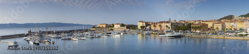 Hafen von Ajaccio auf der Insel Korsika - Panoramabild Wallpaper Mural