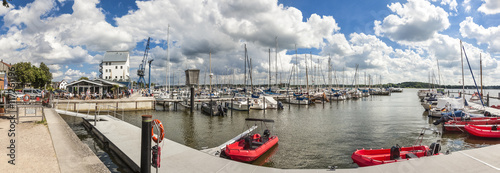 Panorama von der Marina im Hafen von Scleswig