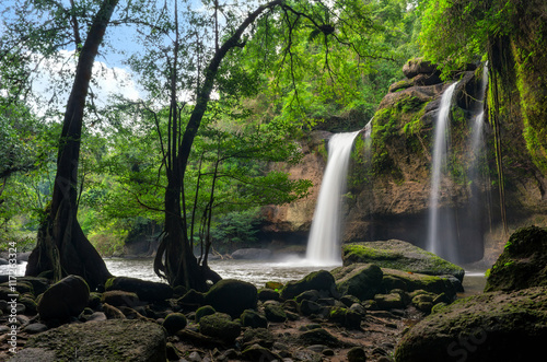 Heo Suwat Waterfall Canvas Print