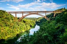 Iron Bridge Over The River Adda Lombardia Italy