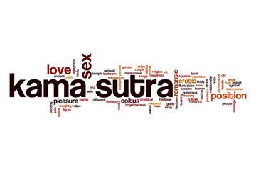 FototapetaKama sutra word cloud concept