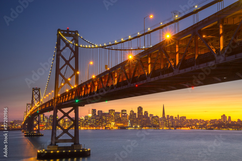 Tuinposter San Francisco Beautiful Sunset at San Francisco Bay