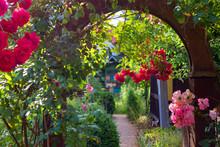 Flower Gate Arch Garden Entran...