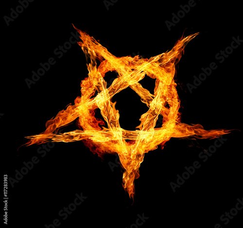 Fire Pentagram Canvas Print