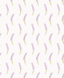 Lavender seamless dot pattern.Cute french wallpaper. Vector illustration. - 117286356