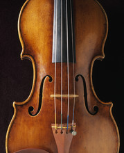 Cropped View Of Stradivarius Violin
