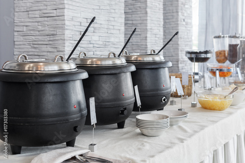 Breakfast Buffet With Dishes And Steam Tables Buy This Stock Photo - Used buffet steam table for sale