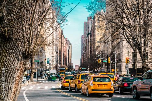 Fototapeta Streets and Buildings of Upper East Site of Manhattan, New York obraz na płótnie