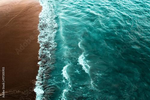 Sea surf on beach
