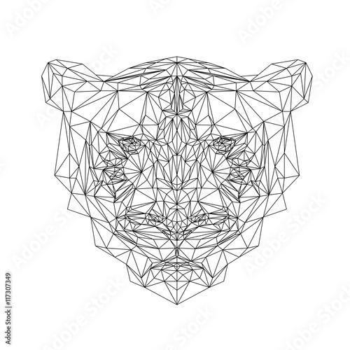 Polygonal Tiger Animal Vector Tiger Illustration For Tattoo