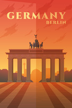 Germany. Vector Poster.