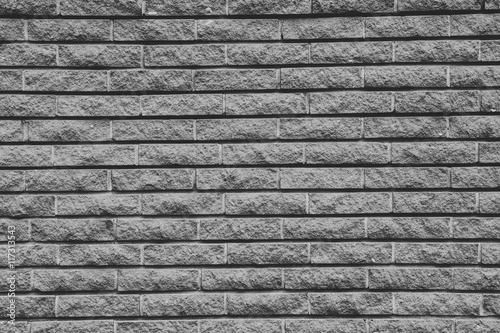 Foto op Plexiglas Gray brick wall background.