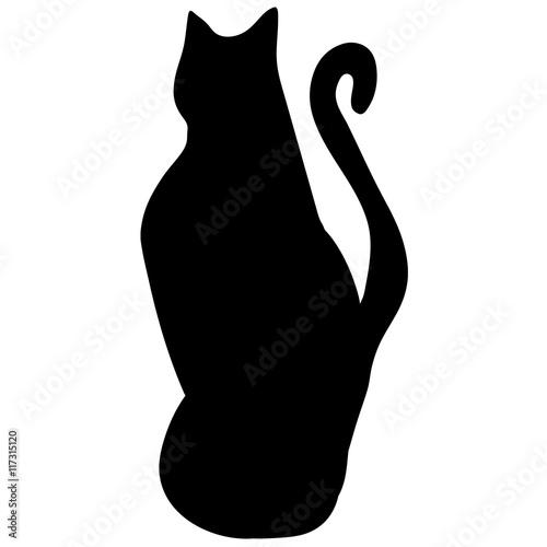 Photo  cat silhouette. vector animal