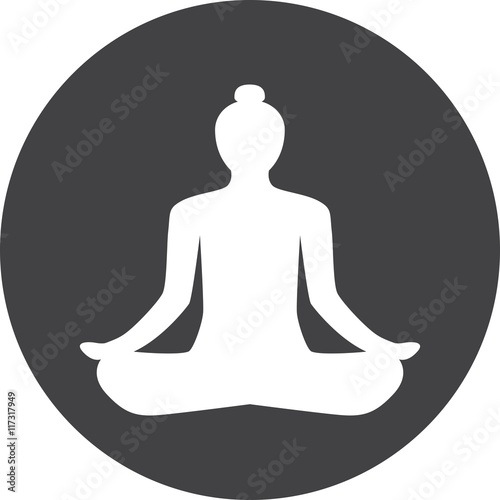Buddhism Mediation Faith Belief Yoga Relaxation Sign Symbol Icon Logo Button Concept Silhouette Isolated White Background Buy This Stock Vector And Explore Similar Vectors At Adobe Stock Adobe Stock