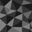Dark grey polygon abstract triangle background