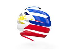 Flag Of Philippines, Round Icon