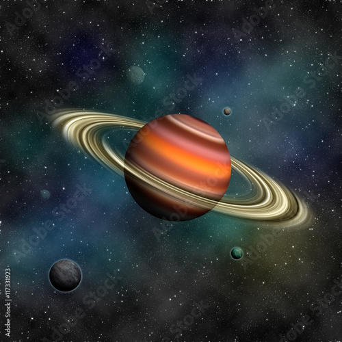 Deurstickers Nasa Saturn and other planets. Elements of this image furnished by NA