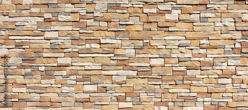 Stacked stone wall - 117335529