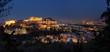 Athen mit Akropolis in der Abenddämmerung