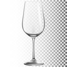 Wine Glass. Transparent Vector Illustration.