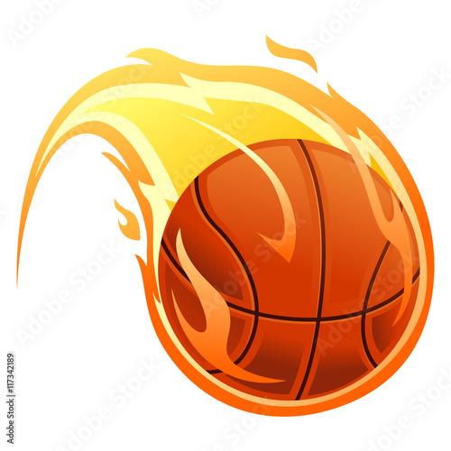 Vector Illustration of Ball on fire