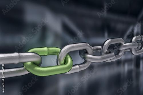 Fotografia  Teamwork concept with Chain