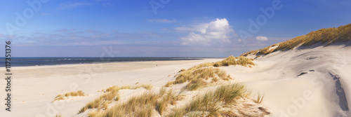 Endless beach on the island of Terschelling in The Netherlands