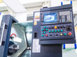 machine control panel CNC with the image of the details on the screen
