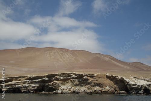Foto op Aluminium Arctica Paracas Candelabra Geoglyph