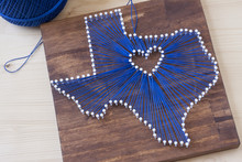 Texas State String Art On A Wo...
