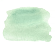 Green Watercolor Abstract Background For Your Design. Abstract P