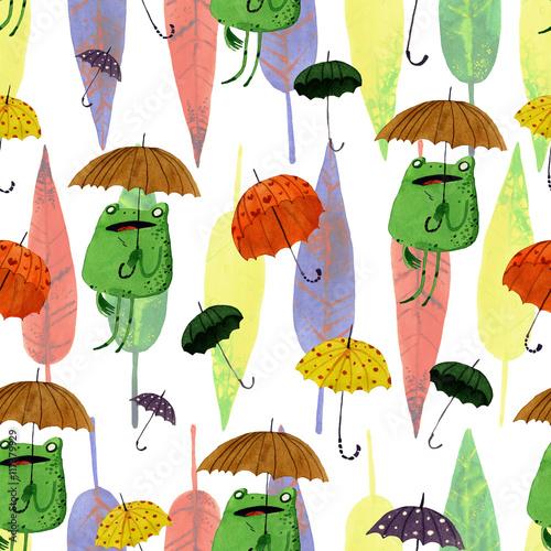 watercolor-umbrella-frog