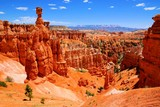 Bryce Canyon National Park hoodoos with the famous Thor's Hammer, Utah, USA