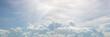 Leinwandbild Motiv Beautiful of blue sky and group of cloud - Panorama Effect