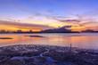 sunrise at fishing village Samchong-tai Phang-nga thailand