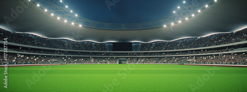Fotografie, Obraz  stadium with fans the night before the match. 3d rendering