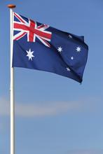 Australische Flagge Im Wind