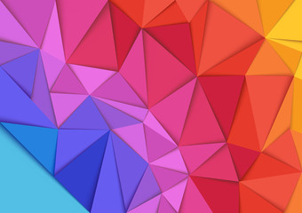 Plakat Abstract Colorful Mosaic Background - Geometric Illustration, Vector