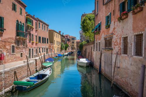 Deurstickers Brugge Venise Canal Rio del Trapolin barques