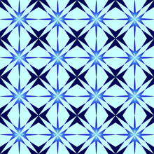 The Pattern Of The Polar Star. Blue Pole Star On A Light Blue Background Pattern For