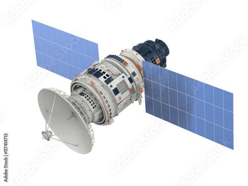 Photo  satellite isolated on white