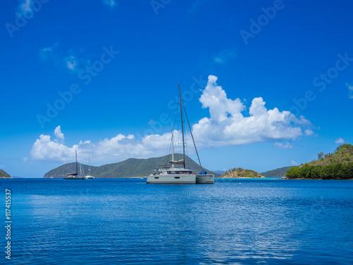 Fotografie, Obraz  Caribbean sea at US Virgin Islands