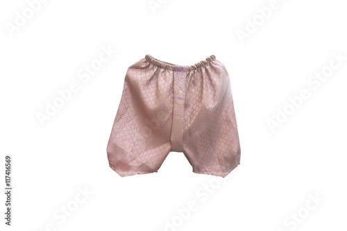 Fotomural loincloth for baby Thai style on isolated