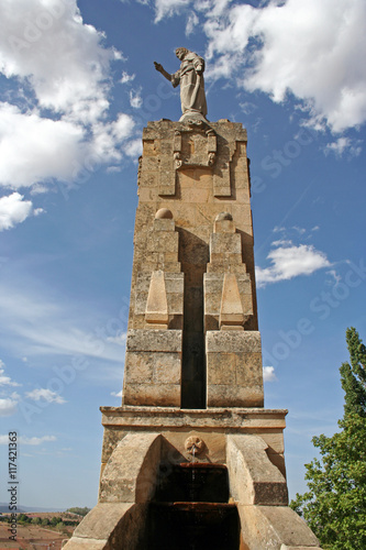 Poster Monument Monumento al Sagrado Corazón de Jesús, Soria (España)