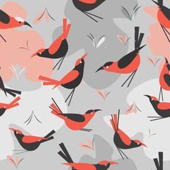 Fototapeta seamless pattern Bird