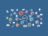 Internet of Things. IoT network. Internet connection concept.