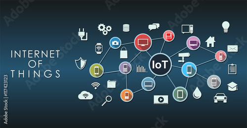 Fotografía  Internet of Things abstract concept illustration.