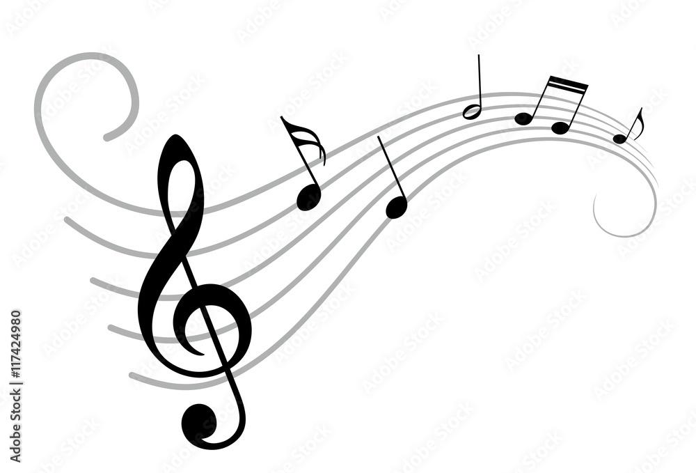 Fototapety, obrazy:  Music notes.