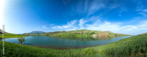 Fotografie, Obraz  Lake in the Kurdistan, Iran, Panorama